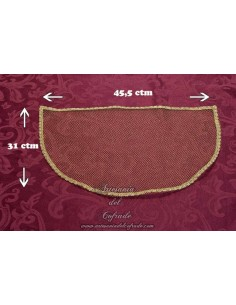 Toca sobre manto para virgen de 75 a 85 ctm aproximadamente.