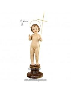 Niño Jesús de 45 ctm de altura con cruz en venta en nuestra tienda cofrade.