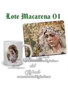 Lote de la virgen de la Esperanza Macarena de Sevilla