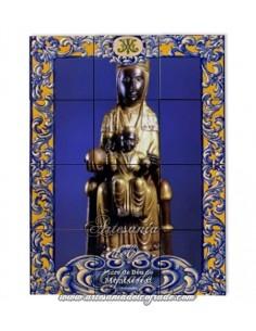 Retablo de 12 azulejos de la Virgen de Montserrat de Cataluña (La Moreneta) en venta en tu tienda web de confianza