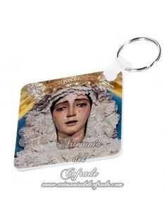 Llavero cuadrado de la Virgen del Refugio de Sevilla, solo en venta en nuestra tienda cofrade