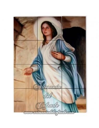 Retablo de 12 azulejos de la Virgen de Nazaret en venta en tu tienda web de confianza