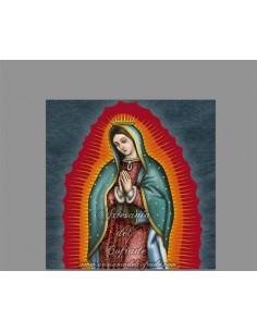 Azulejo cuadrado de la Virgen de Guadalupe
