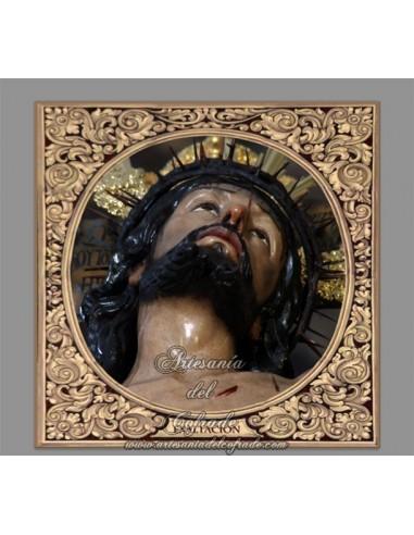 Precioso Azulejo cuadrado del Cristo de la Exaltación (Sevilla)