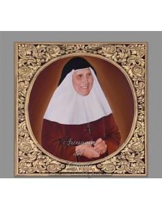 Azulejo cuadrado  de Madre  Maria de la Purísima