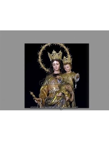 Azulejo cuadradao de Maria Auxiliadora