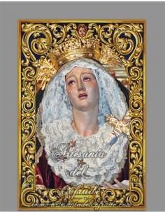 Precioso Azulejo rectangular de NUestra Señora del Mayor Dolor (Hermandad del Calvario)