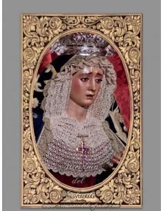 Precioso azulejo rectangular de la Virgen de Montserrat