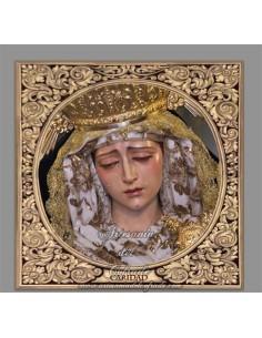 Azulejo cuadrado de María Santísima de la Caridad de Cordoba