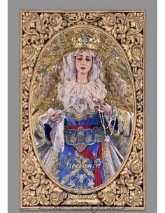 Azulejo rectangular de María Santísima de la Paz y Esperanza de Cordoba