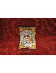 Toallita Limpia Gafas con la Virgen de la Esperanza Macarena de Sevilla con greca