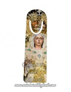 Marca página con la Virgen de la Esperanza Macarena.