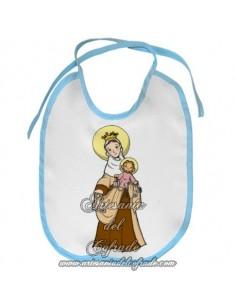 Babero con la Virgen del Carmen