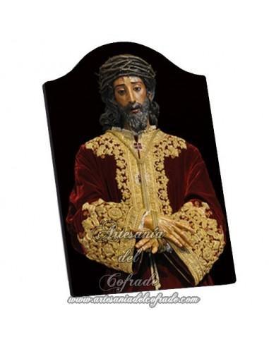 Capilla Placa madera del cristo de la Sentencia de Sevilla