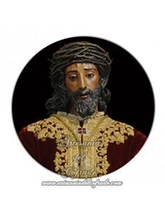 Imán redondo plastico del Cristo de la Sentencia de Sevilla