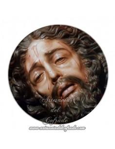 Imán redondo plastico del Cristo de Santa Marta de Sevilla