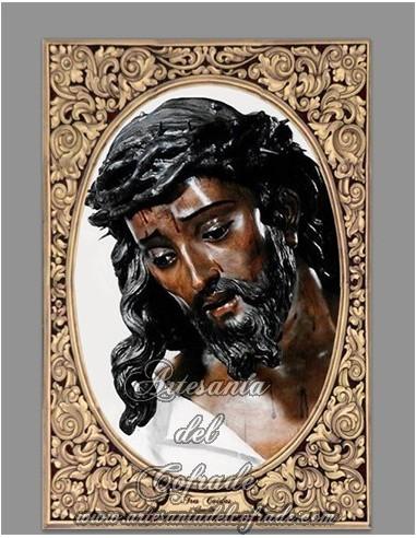 Azulejo rectangular del Cristo de las Tres caidas  de Triana