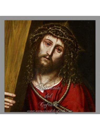 Azulejo cuadrado del Rostro de Jesús Nazareno.