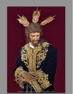 Bonito azulejo rectangular del Cristo de San Gonzalo de Sevilla