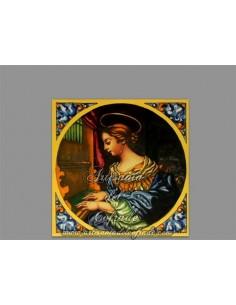 Azulejo cuadrado de Santa Cecilia