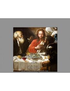 Reprodución en Azulejo cuadrado de la Santa cena