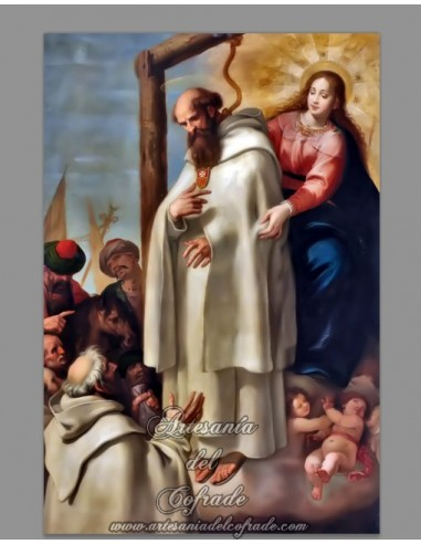 Reprodución en azulejo 20x30 del martirio de San Pedro Armengol