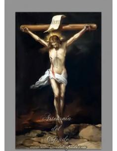 Azulejo rectangular reproducción de cristo crucificado