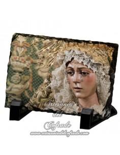 Pizarra rectangular de la virgen de la Esperanza Macarena de Sevilla