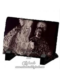 Pizarra rectangular de la virgen de la Amargura de Sevilla