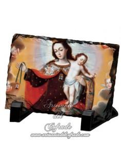 Reproducción en Pizarra rectangular de la virgen del Carmen
