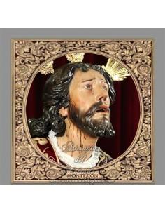 Azulejo cuadrado del Cristo de Montesión de Sevilla