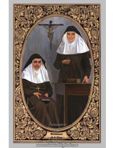 Azulejo  de Santa Angela de la Cruz y Madre María de la  Purísima