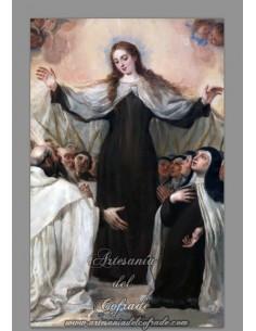 Precioso Azulejo rectangular de la Virgen del Carmen