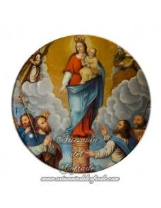Imán redondo plastico de la Virgen del Pilar