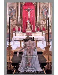 Azulejo rectangular del Cristo de la Caridad (Santa Marta de Sevilla)