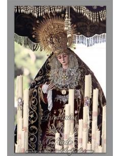 Azulejo de  la Virgen del Subterraneo de Sevilla.