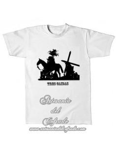 Camiseta con la silueta del cristo de las tres caidas de Triana (Sevilla)