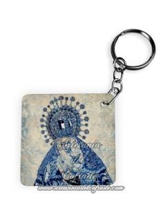 Llavero Cuadrado de la Virgen de la Esperanza de Triana
