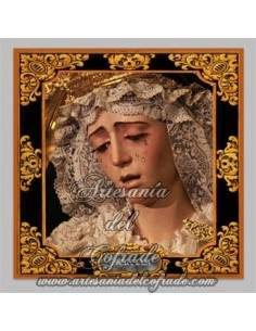 Azulejo cuadrado Virgen de la Estrella de Sevilla