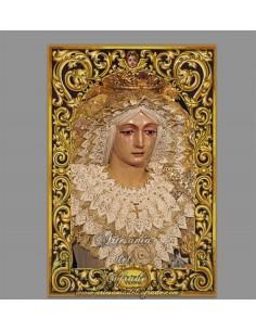 Precioso azulejo rectangular de la Virgen de la Victoria (Humildad de Lebrija)