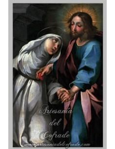 Bonito y original azulejo rectangular de Jesús con la virgen