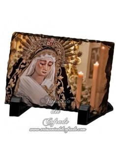 Pizarra rectangular de la virgen de la Soledad de San Lorenzo de Sevilla
