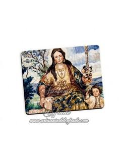 Bonita alfombra de ratón de la Divina Pastora de Cantillana