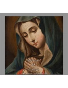 Azulejo cuadrado de la Virgen Dolorosa