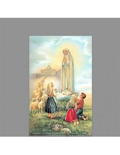 Precioso azulejo de la aparición de la Virgen de Fátima