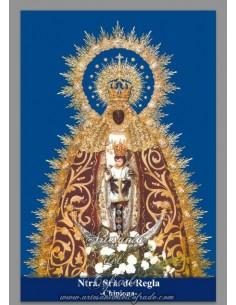Azulejo rectangular de la Virgen de Regla (patrona de Chipiona)