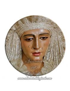 Imán redondo plastico de la Virgen de la Esperanza de Triana