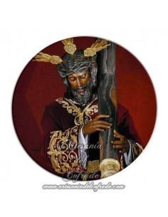 Imán redondo plastico de Ntro. Padre Jesús de la Salud de Sevilla (Los Gitanos)