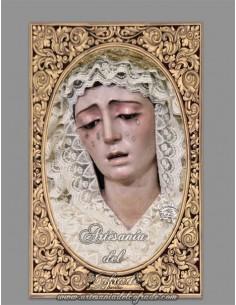 Azulejo rectangular de María Santísima de la Estrella de Sevilla