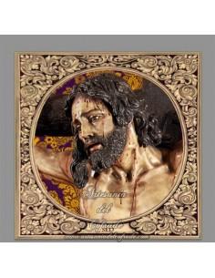Azulejo cuadrado del Stmo. Cristo de la Sed de Sevilla